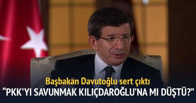 Başbakan Davutoğlu sert çıktı