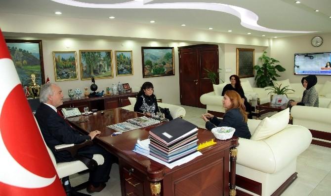 Güçlü Kadınlardan Başkan'a Ziyaret