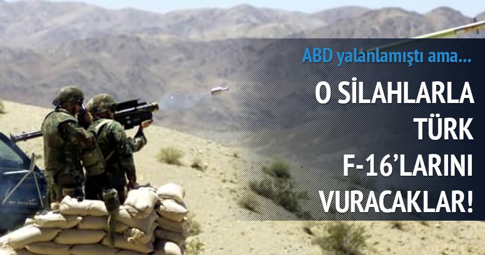 PKK o silahla Türk F-16'larını vuracak