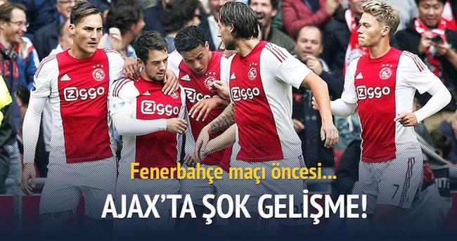 Fenerbahçe maçı öncesi Ajax'ta şok gelişme!