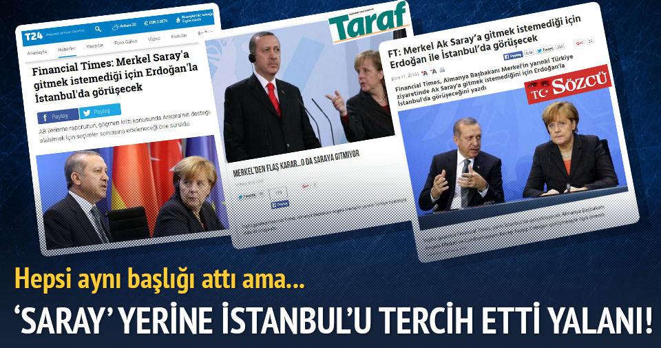 Saray yerine İstanbul'u seçti yalanı