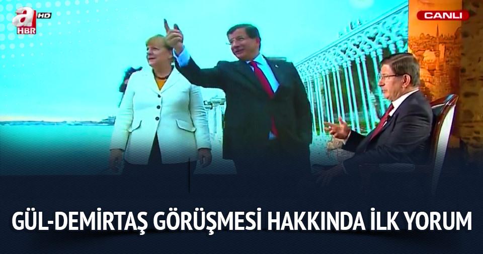 Davutoğlu'ndan Gül-Demirtaş görüşmesi hakkında ilk yorum