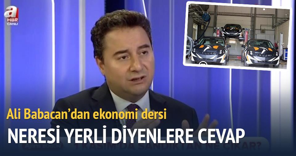 Ali Babacan'dan yerli otomobil açıklaması