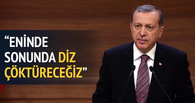 Erdoğan: Teröre diz çöktüreceğiz