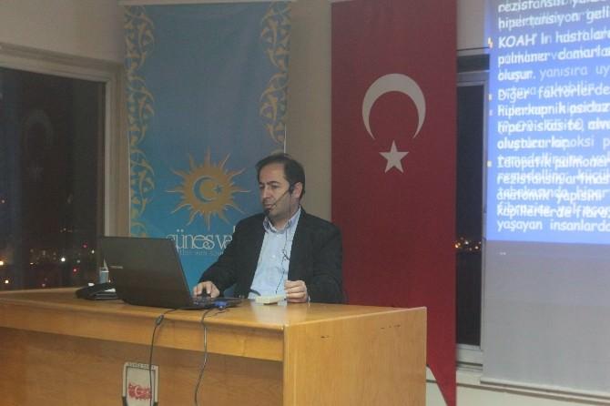 Prof. Dr. Gündoğdu, Güneş Vakfı'nda Kalp Hastalıkları Ve Tedavilerini Anlattı