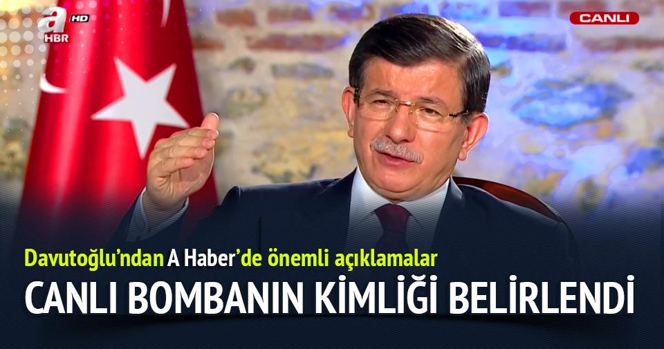Davutoğlu: Canlı bombanın kimliği belirlendi