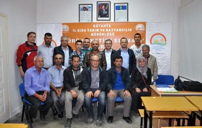 Gediz'de 25 Çobana 'Sürü Yönetimi Elemanı' Belgesi