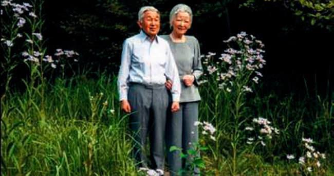 İmparatoriçe'nin 81'inci yaş günü pozu