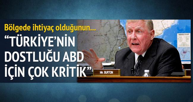 Burton: Türkiye'nin dostluğu ABD için çok kritik