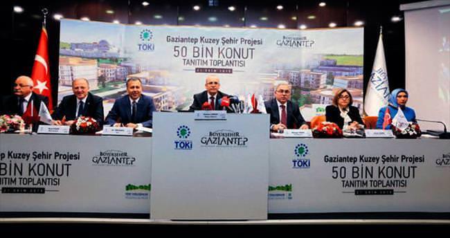 Gaziantep'e 50 bin konutluk yeni şehir