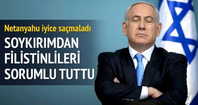 Yahudi soykırımından da Filistinlileri sorumlu tuttu