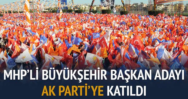 MHP'li başkan adayı AK Parti'ye katıldı