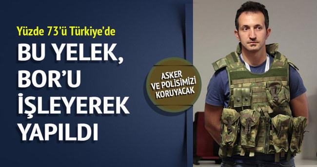 Asker ve Polis'e Bor'lu zırh