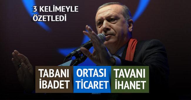 Cumhurbaşkanı Erdoğan FETÖ'yü özetledi