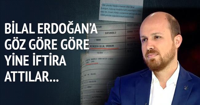 Bilal Erdoğan'a yine iftira attılar!