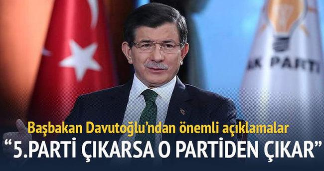 Davutoğlu: 5.parti çıkarsa o partiden çıkar