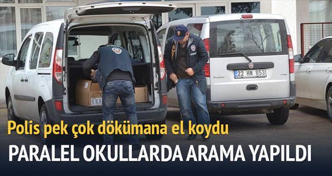 Edirne ve Muş'taki Paralel okullarda arama yapıldı