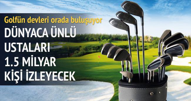 Golfün devleri Belek'e geliyor
