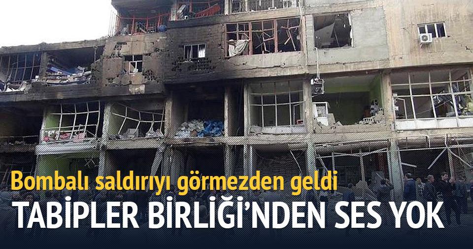 Türk Tabipler Birliği hastane saldırısını görmezden geldi