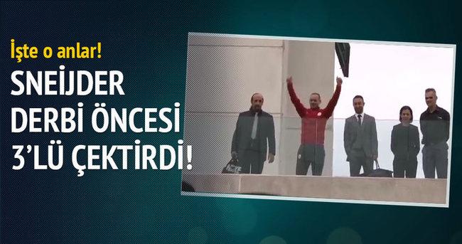 Sneijder derbi öncesi 3'lü çektirdi!
