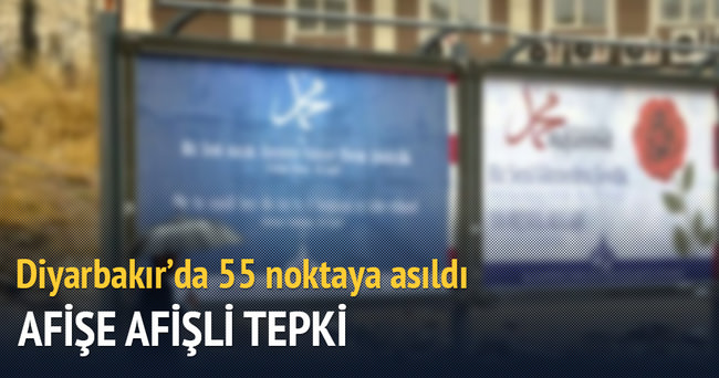 Diyarbakır'da asılan afişe 'afişli' tepki