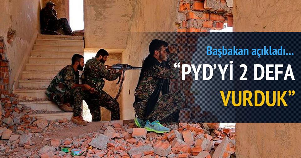 Davutoğlu: PYD'yi vurduk!