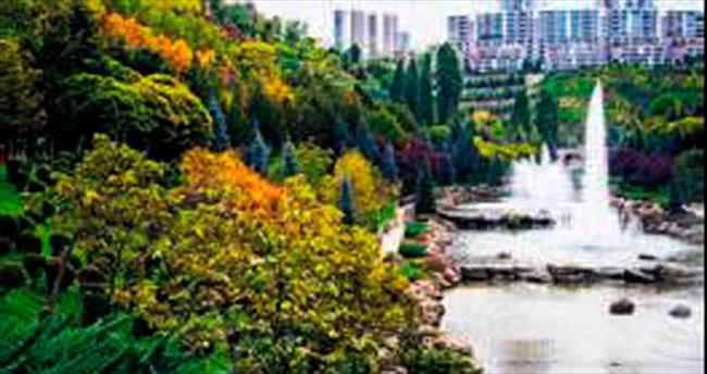 Şehir parklarında sonbahar güzelliği
