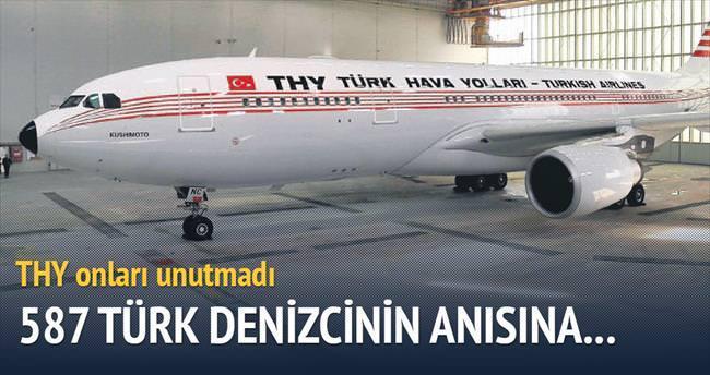 587 Türk denizci anısına nostaljik uçak