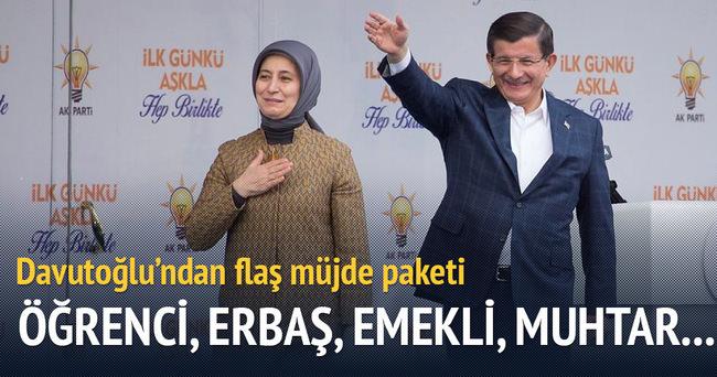 Davutoğlu 10 maddelik müjde paketini açıkladı