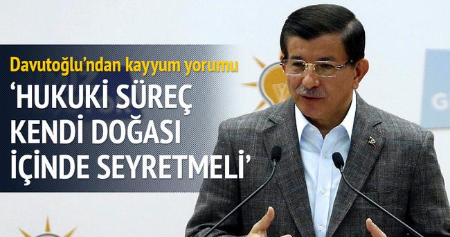 Başbakan Ahmet Davutoğlu'ndan kayyum yorumu