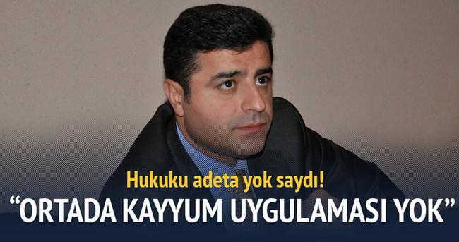 Demirtaş'tan Başsavcılık kararına 'mafya' benzetmesi