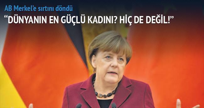 AB Merkel'e sırtını döndü