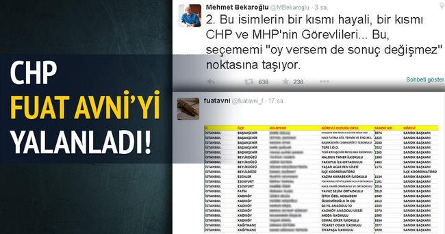 Mehmet Bekaroğlu Fuat Avni'yi yalanladı!