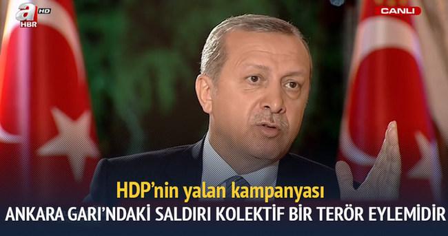 Erdoğan: Ankara Garı'ndaki saldırı kolektif bir terör eylemidir