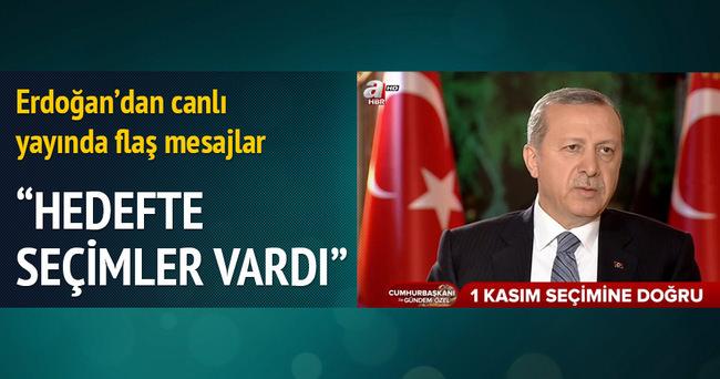 Cumhurbaşkanı Erdoğan'dan A Haber - Atv ortak yayınında flaş açıklamalar