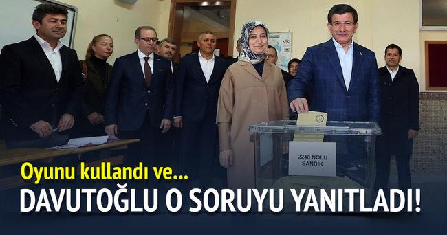 Başbakan Davutoğlu oyunu kullandı