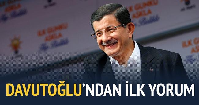 Başbakan Davutoğlu'ndan ilk yorum