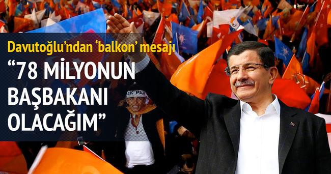 Başbakan Davutoğlu balkon konuşması yaptı
