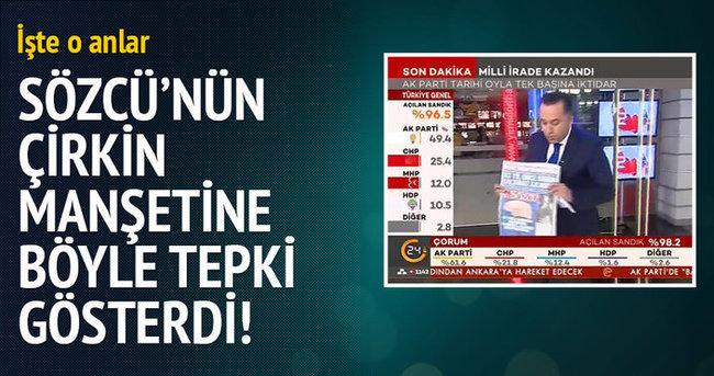 Murat Çiçek'ten Sözcü gazetesine tepki