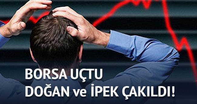 Borsa yüzde 5.3 yükseldi, Doğan ve İpek hisseleri çakıldı