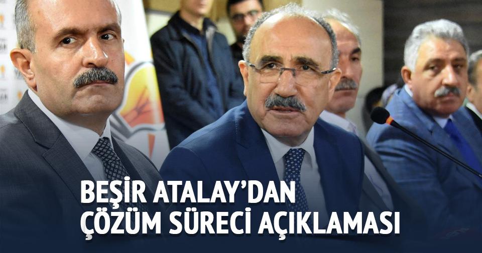 AK Partili Beşir Atalay'dan çözüm süreci açıklaması