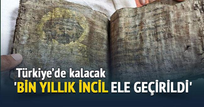 'Bin yıllık İncil Tokat'ta kalacak'