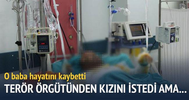 Kızı verilmediği için kendisini yakan Kobanili baba öldü