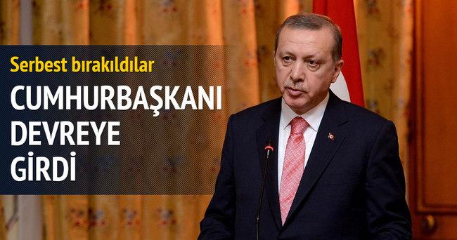 Erdoğan devreye girdi, serbest bırakıldılar