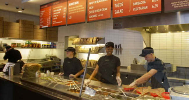 ABD'li gıda zinciri Chipotle bakteri nedeniyle restoran kapattı