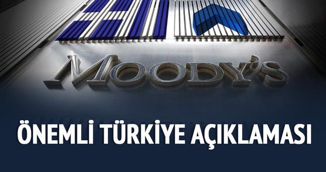 Moody's'den önemli Türkiye açıklaması
