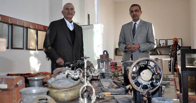 Hurdacının topladığı 'eserler' ile kültür evi kuruldu
