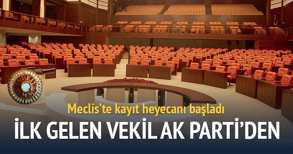 Meclis'te ilk kaydı AK Parti'li vekil yaptı