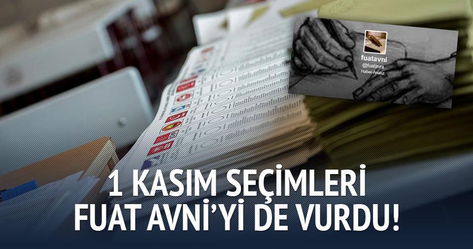 1 Kasım seçimleri Fuat Avni'yi de vurdu!