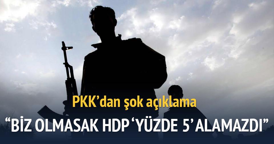 PKK'dan şok açıklama: Biz olmasak HDP % 5 alamazdı
